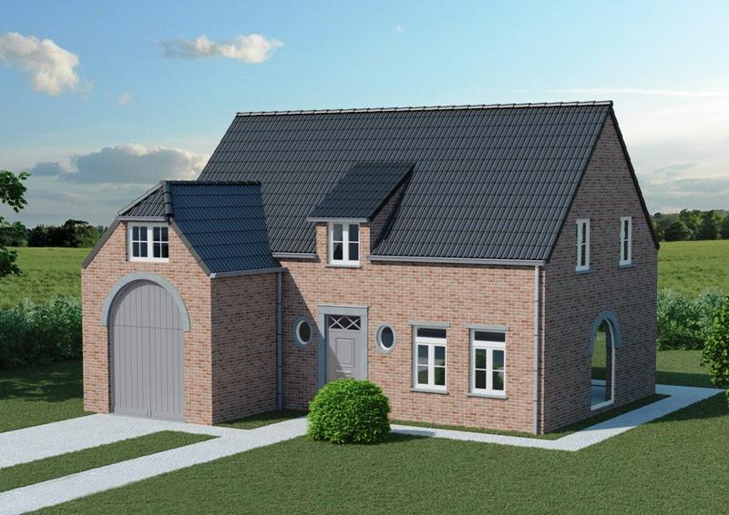 Woningbouw speybroeck horebeke woning zeer mooie open bebouwing 28 meter breed - Zeer moderne woning ...